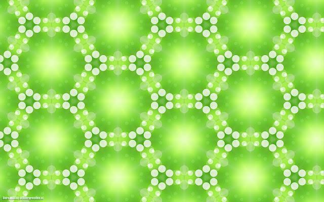 Groene abstracte wallpaper met patronen van lichten en ronde stippen