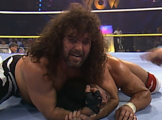 WCW Wrestlewar 1990 - Jimmy 'Jam' Garvin puts a hurting on his opponent