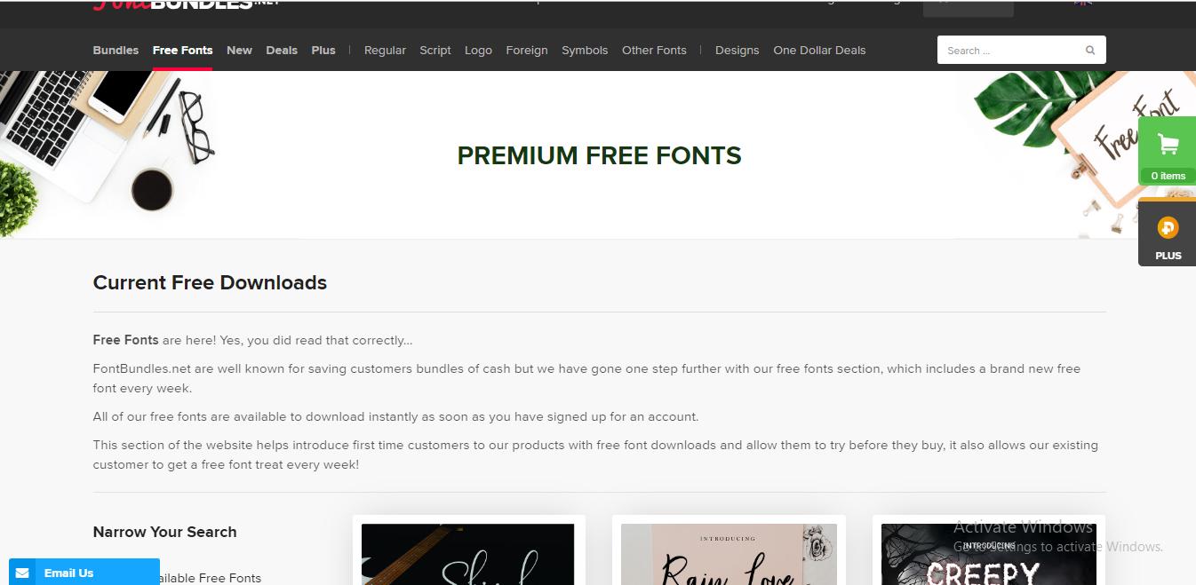 fontbundles-best font websites