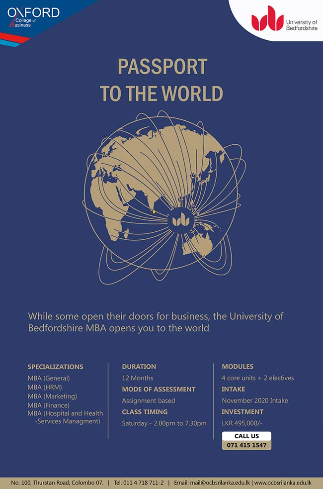 Oxford College of Business - 12 Month MBA – November 2020 Intake.