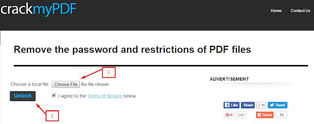 Cara membuka PDF yang terkunci secara online