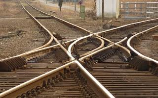 pembengkokan rel kereta api