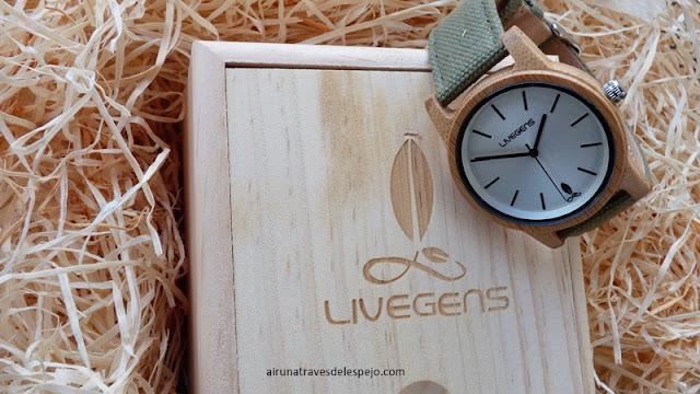 relojes madera sostenibles livegens