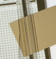 "TIP: Cut the cardstock diagonally -- lining up the corners at 1-3/4"" and 3/4""."