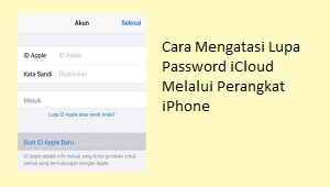 Lupa password iCloud