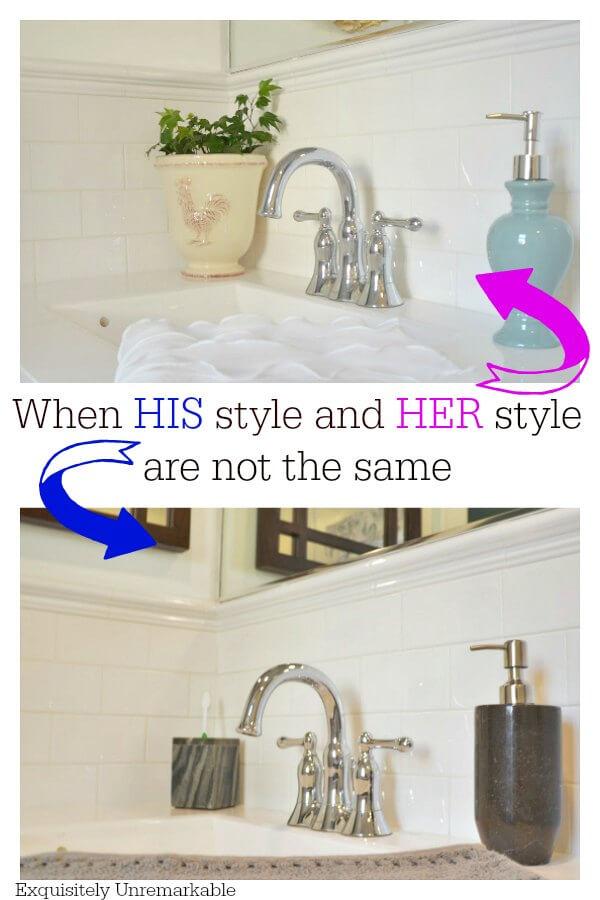 Men's Bathroom Decor Vs Women's Bathroom Decor