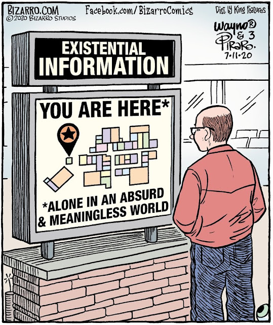 Existential Information: You are Here * Alone in an Absurd & Meaningless World
