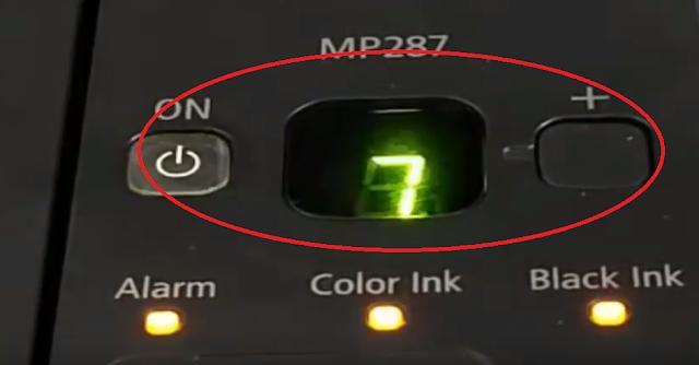 Reset Printer Canon MP 287 II Code Error 5B00, E08, P07 100% Work