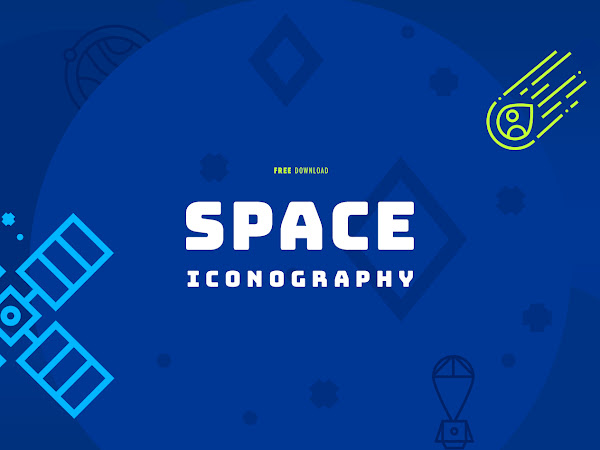 Download Space Iconography Vector Free