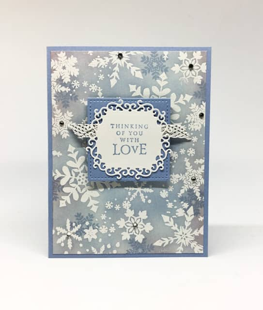 Hand Stamped Snowflake Christmas Card