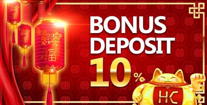 hokicash bonus deposit 10%