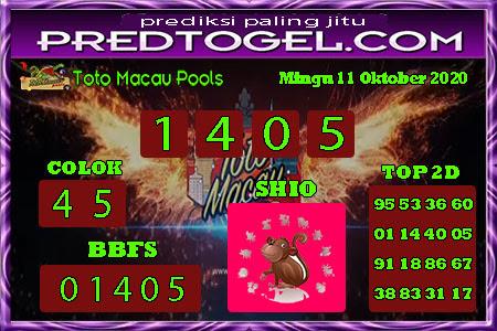 Pred Macau Minggu 11 Oktober 2020
