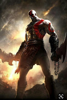 Picture of Kratos in God of war