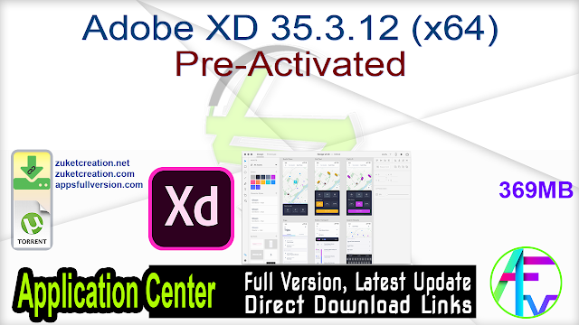 Adobe XD 35.3.12 (x64) Pre-Activated