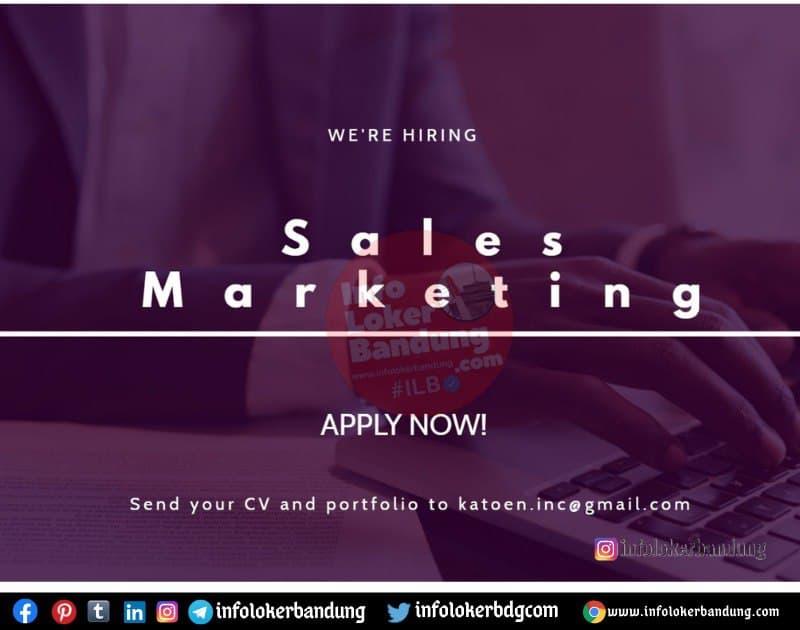 Lowongan Kerja Sales Marketing Katoen Inc Bandung April 2021