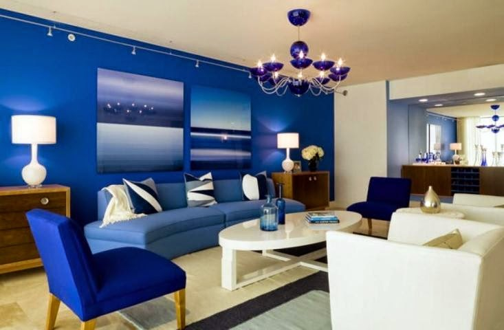 Blue Wall Paint Ideas For Living Room And Color Combo
