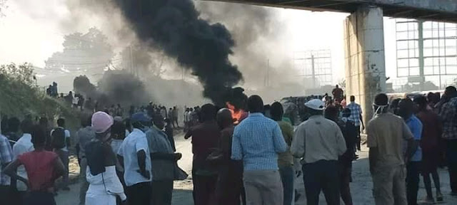 Mombasa protest due to food distribution in Mombasa