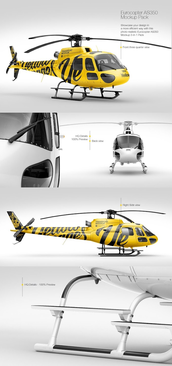 Eurocopter AS350 Mockup Pack