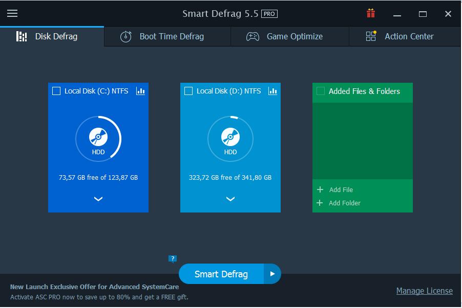IObit Smart Defrag Pro 6.5.5.98