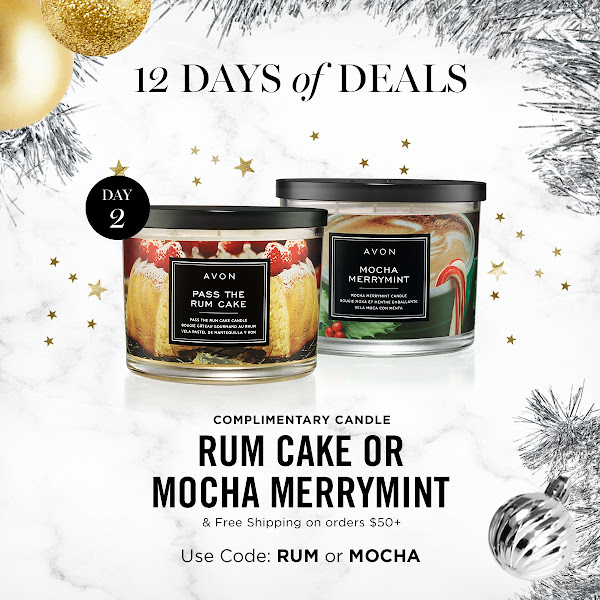 THE 2nd DAY OF THE 12 DAYS OF DEALS. RUM CAKE OR MOCHA MERRYMINT & FREE SHIPPING ON ORDERS 50+ USE CODE: RUM OR MOCHA