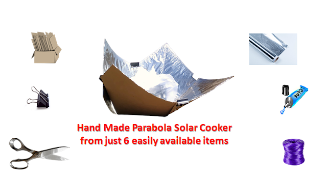Hand Made Parabola Solar Cooker from just 6 easily available items