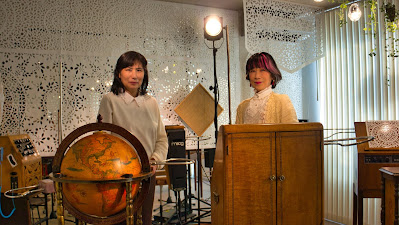 Yuko Horinokita and Yoko Onishi in the Theremin Museum, Zushi, Japan
