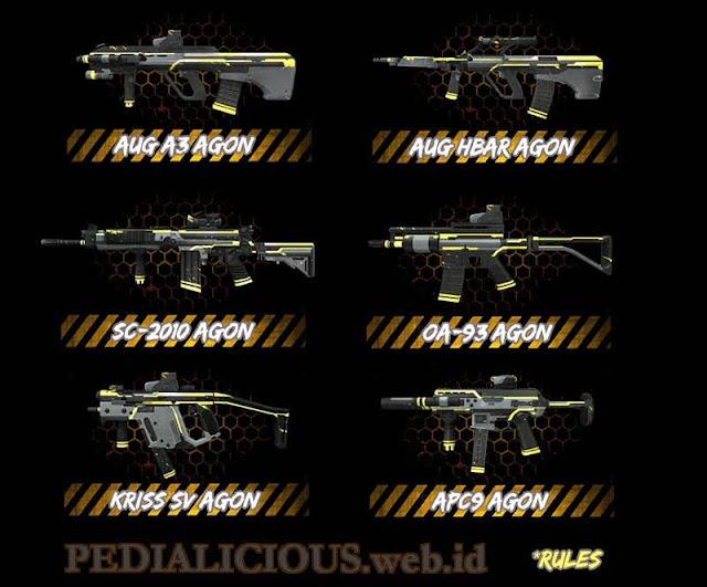 Harga & Statistik Seri E-Sports Agon Senjata Point Blank