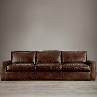 Copy Cat Chic Restoration Hardware Maxwell Leather Sofa