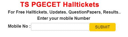 Telangan PGECET Halltickets 2020