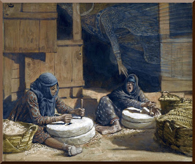 """""""The Two Women at the Mill"""" -- by James Tissot - PD-1923"""