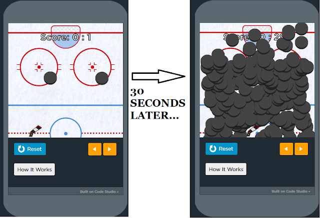 Justin Trudeau Hour of Code code.org breakout hockey balls flood