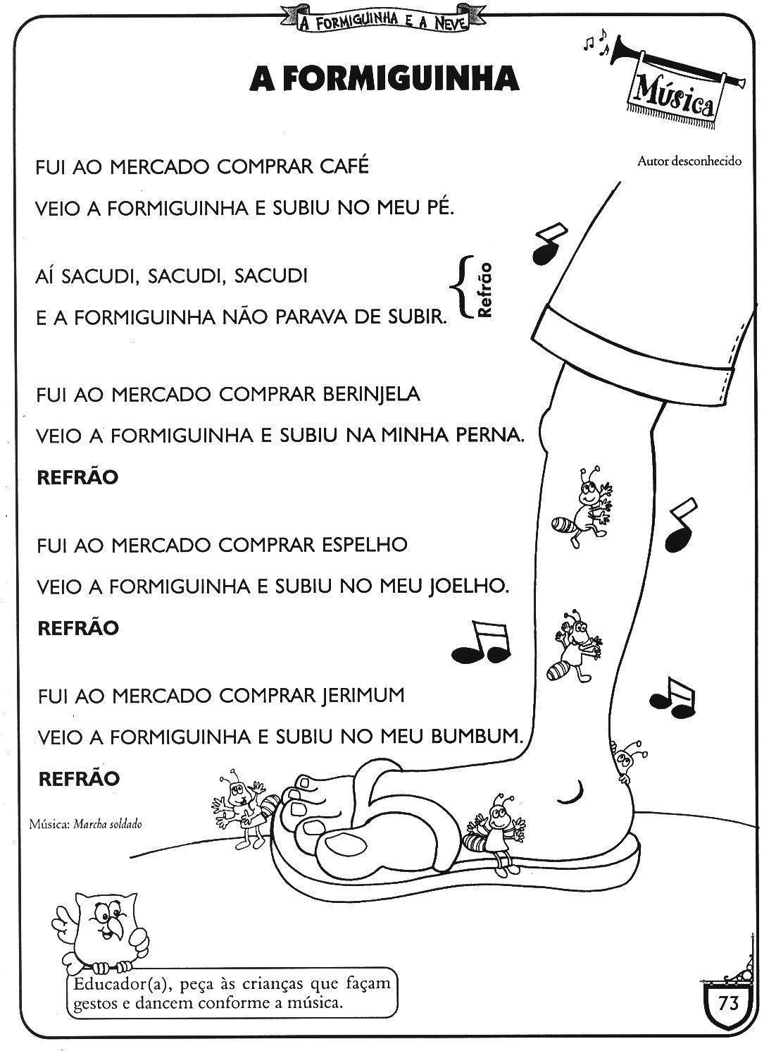 100 A Formiguinha Ea Neve Para Colorir