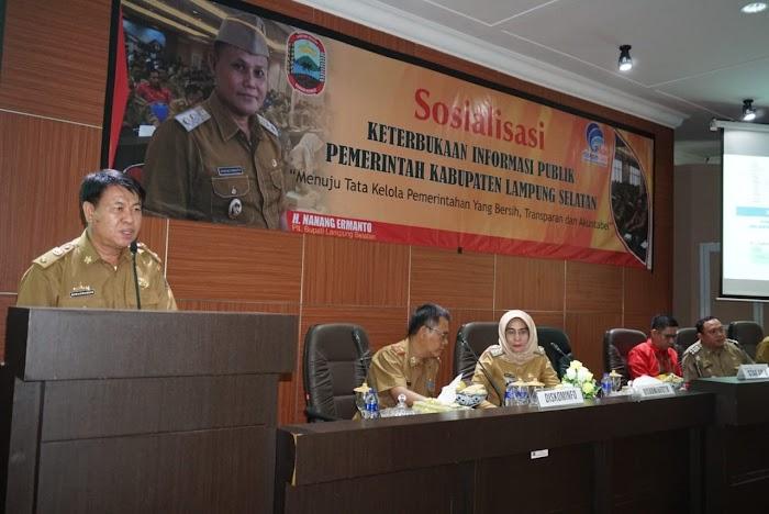 Diskominfo Lampung Selatan Gelar Sosialisasi Keterbukaan Informasi Publik Bagi OPD.