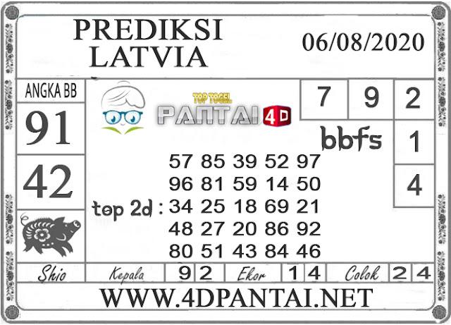 PREDIKSI TOGEL LATVIA PANTAI4D 06 AGUSTUS 2020