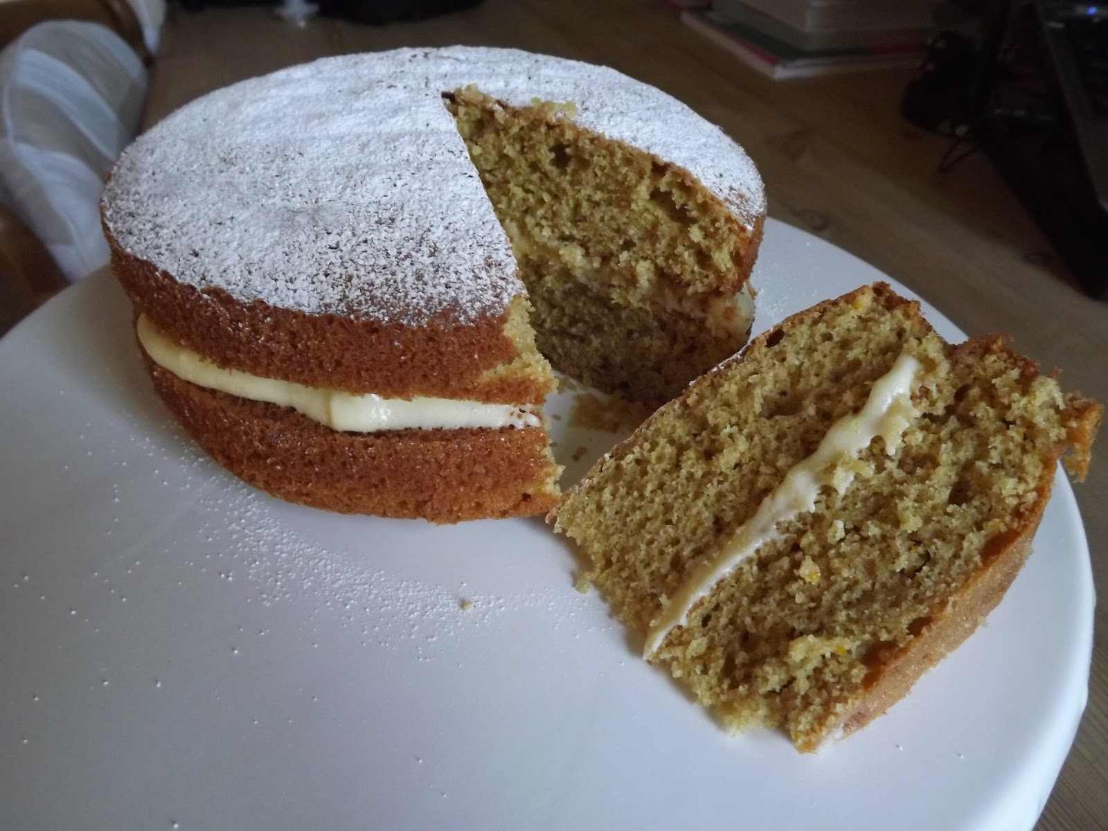 Farmhouse Orange Victoria Sandwich For The Weekly Bake Off