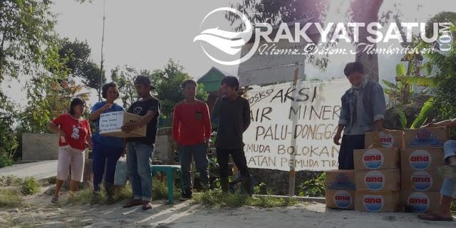Aksi Air Mineral dari Pemuda Bittuang untuk Korban Tsunami dan Gempa Palu-Donggala