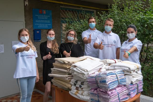Православный добровольческий отряд кинокомпании «Союз Маринс Групп» оказал помощь малообеспеченным семьям Ялты