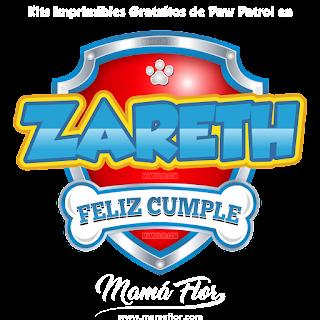 Logo de Paw Patrol: ZARETH
