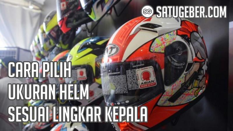 gambar ukuran helm Supermoto, motocross trail, full face, retro dan hal face