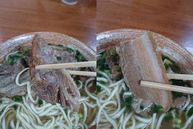 軟骨ソーキと三枚肉の写真