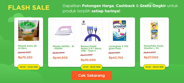 FLASH SALE DI TOKOPEDIA