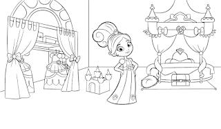 דף צביעה הנסיכה נלה