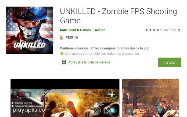 Descargar UNKILLED apk en android