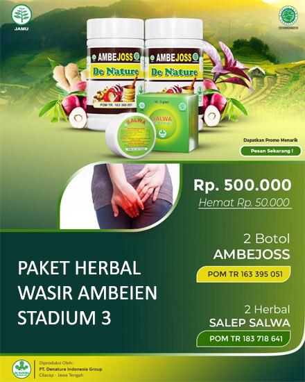 Paket Herbal Wasir Ambeien Stadium 3