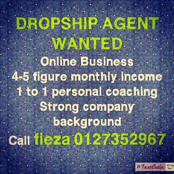 Beautiful Life, Love & Inspiration: Dropship Agent Wanted