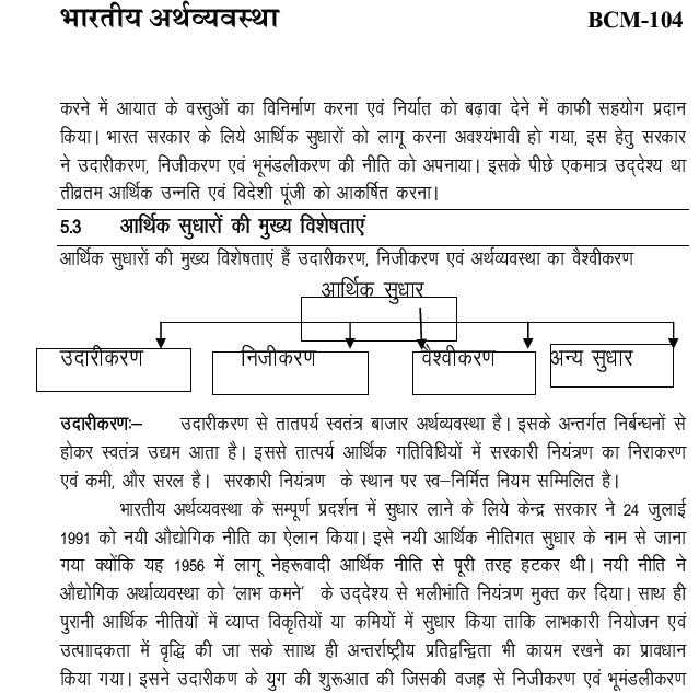 भारतीय अर्थव्यवस्था ( Indian Economics ) PDF Notes in Hindi 2019