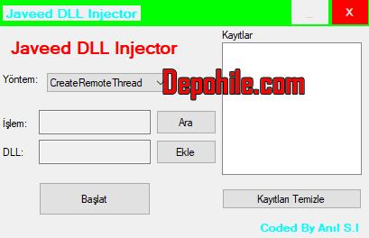 Javeed v1.0 DLL Injector Programı Türkçe İndir Fixsiz Süper 2020