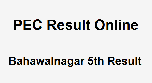 Bahawalnagar 5th Class Result 2019 PEC - BISE Bahawalnagar Board