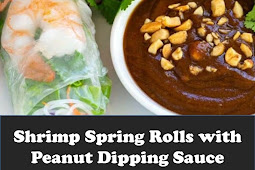 #Recipe #Shrimp #Spring #Rolls #with #Peanut #Dipping #Sauce