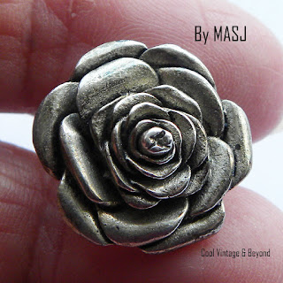Small rose pin by Silver Scenes